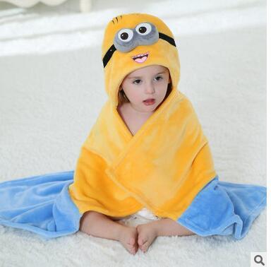2016 fralda flanela roupão filho monocamada animais levantou manto tapete crianças banho roupão de