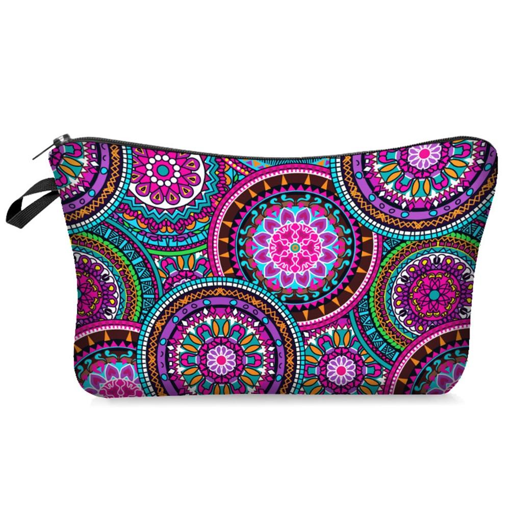 Yotina Makeup Bag Women Cosmetic Bag With Multicolor Pattern 3D Printing Neceser Toiletry Bag For Travel Organizer Make Up Bag