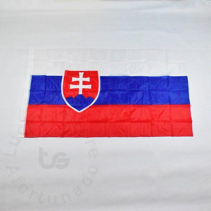 Slovensko 90 * 150cm vlajka Banner Doprava zdarma Visí Slovensko Národní vlajka pro setkávání, Parade, party.Hanging, dekorace