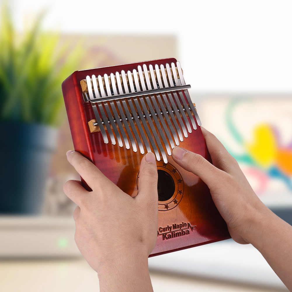 GECKO MC-S 17-клавишным калимба «пианино для больших пальцев» Mbira вьющиеся из цельной кленовой древесины с Сумка для хранения и транспортировки чехол молоточек для настройки нотная тетрадь наклейки