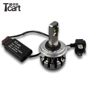 Tcart 2018 30 Вт с EMC светодиодные фары H1 P14. 5S H7 PX26D H11 PGJ19 Авто светодиодные фары водоворота рассеивания тепла без вентилятора