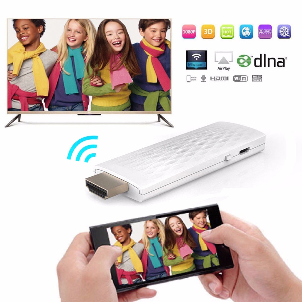 SOONHUA 1080P Receiver HDMI TV Stick Wireless WiFi Display Dongle TV Adapter Miracast DLNA Airplay Modes Android Mirror Display