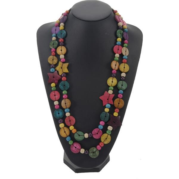 Wooden Beaded Chain Coconut...