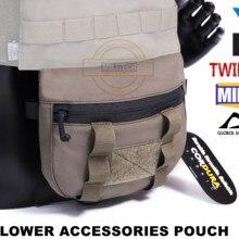 MILITECH TWINFALCONS TW Delustered Cordura Plate Carrier Нижняя сумка для аксессуаров подбрюшная сумка паховая сумка
