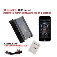 Car DSP digital amplifier car audio 31 band EQ floating point tuning system bluetooth 4X85W for BMW VW opel Audi audio sound amp