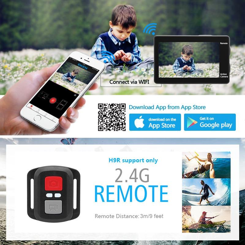 EKEN H9R Ultra HD 4K WiFi caméra d'action avec 2.4G télécommande 2.0 écran 30M étanche sport mini caméra - 5