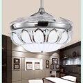 Kl-659 потолочный вентилятор с кристаллами  бытовой вентилятор  современный  простой  42 дюйма  переменный свет  дистанционное управление  Евро...