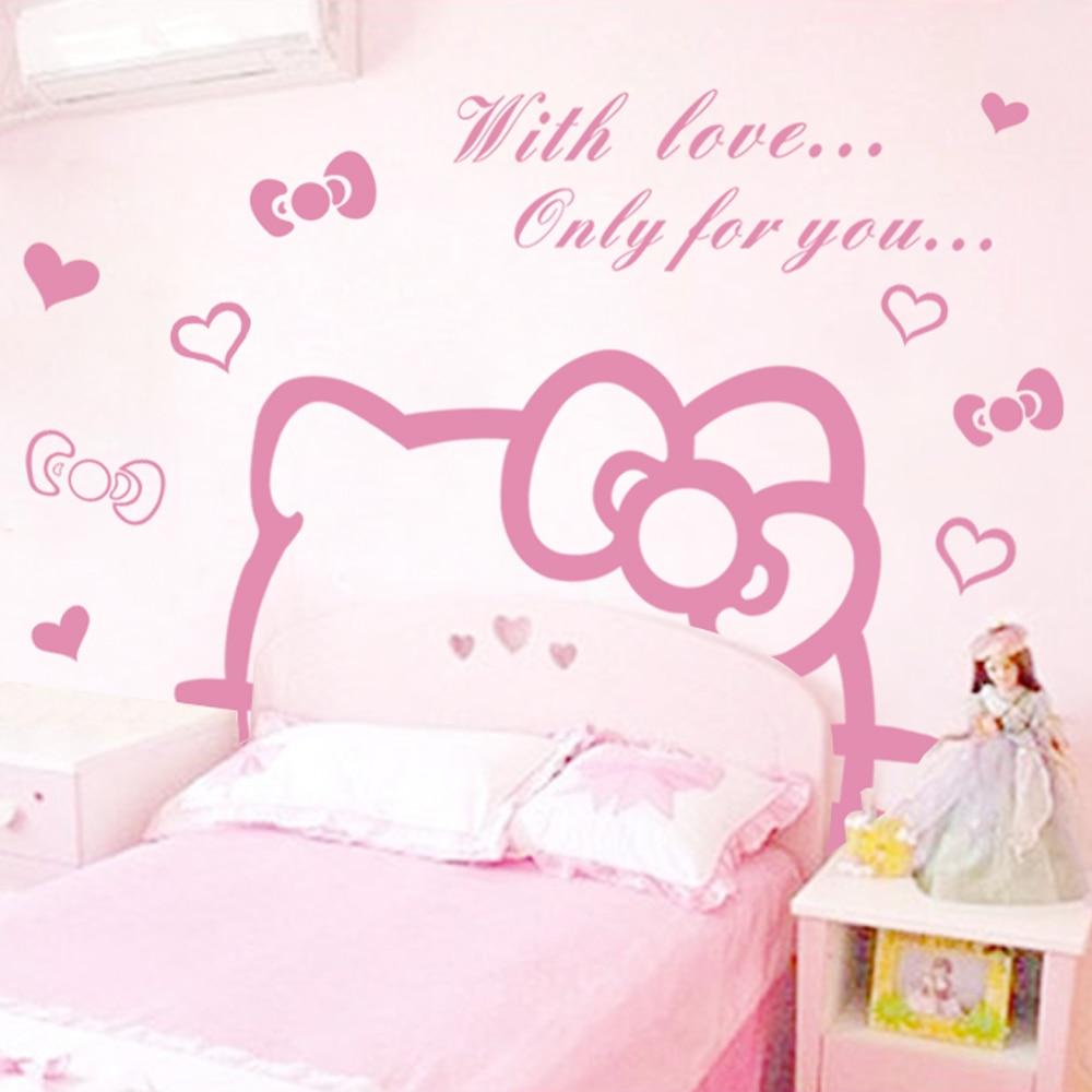 Hello Kitty Wall Sticker Part   31: Jiu Jiu Cartoon Girl Bedroom Bedside Wall  Stickers Part 14