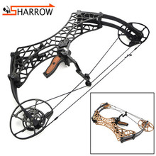 1set 40-70lbs Compound Bow 26inch Fishing Slingshot Hunting Bow 350FPS Arrow Speed For Shooting Training Archery Pulley Bow archery compound bow fully adjustable 40 70lbs 45 75lbs 55 85lbs dual cam compound bow ibo 350fps outdoor shooting accessories