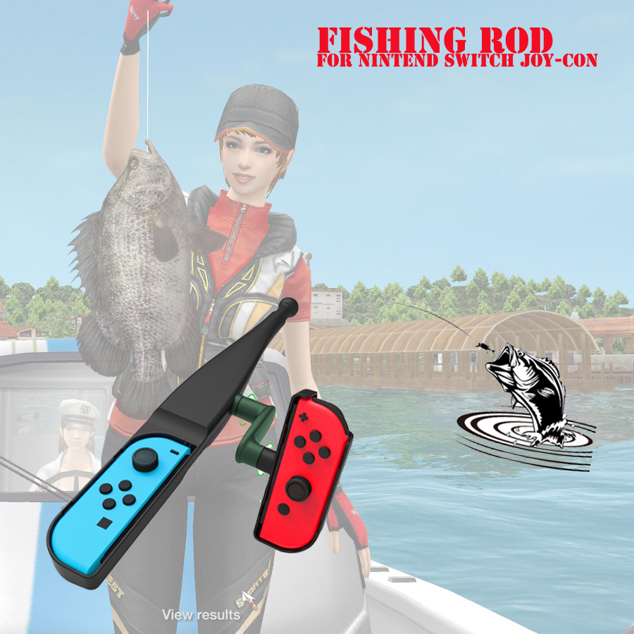 Game Peripherals Handgrip Sense Game Accessories Handle Joypad Stand Holder Fishing Rod Pole for Nintend Switch Joy-con