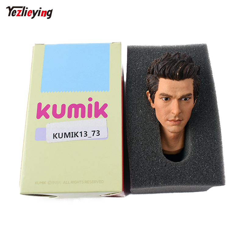 1/6 Scale Head Sculpt Carving Pattern Male Spiderman Prequel Peter Parker Andrew Garfield KUMIK 13-73 12 Figure Accessories 1 6 scale mike head carved jailbreak mike scofield wentworth miller head carving 12 figure accessories