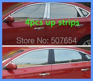 Более высокая звезда 304# из нержавеющей стали 4 шт оконные полосы/вверх планки для Chevrolet CRUZE 2009-2012