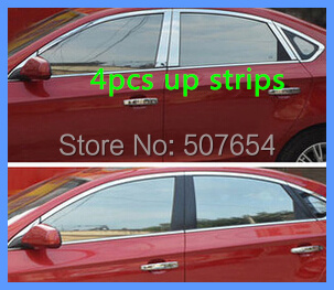 Free shipping! High quality 304# Stainless steel 4pcs window up strips/up trims for  Chevrolet CRUZE 2009-2012 high quality car central station mat sticker for chevrolet cruze black 1pcs free shipping kl12329