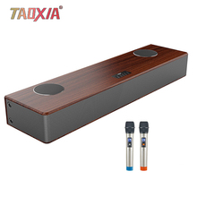 Smart Voice K Song Wooden Living Room Home Theater Audio Set