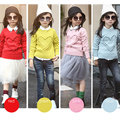Toddler kids knitted sweater Autumn/winter/Spring baby girls cute lovely sweater children love pretty solid color simple sweater