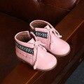 Zapatos de los niños Botas de Cuero Botas de Niña Primavera Otoño Invierno Botas Zapatos de la Muchacha de Calidad Superior 2 colores Botas para Las Niñas