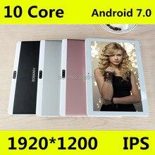 """T100 Original 10 """"4G LTE Tablet llamada de Teléfono 1920*1200 IPS 10 Core Android 7.0 Tablet PC para Niños 4G 64G BabyPad Para Niños"""