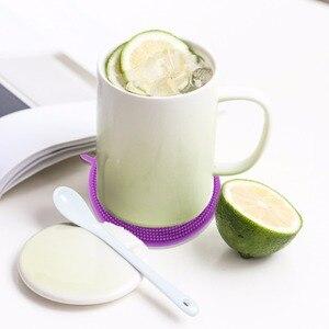 Image 4 - Ronde Siliconen Afwassen Spons Borstel Antibacteriële Keuken Schoonmaken Pad milieuvriendelijke Isolatie pads