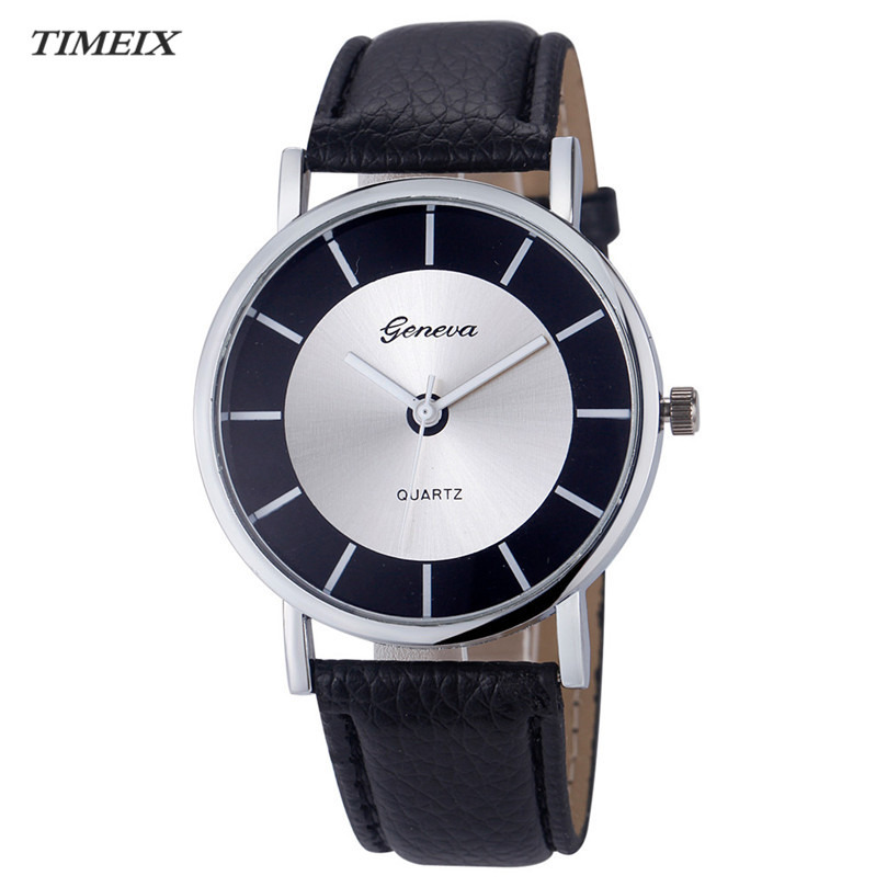 Fashion Geneva Women Retro  Dial Leather Band Quartz Analog Wrist Watch Ladies Watch Free Shipping #60 new fashion women retro digital dial leather band quartz analog wrist watch watches wholesale 7055