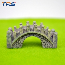 Teraysun 2pcs/lot Miniature Resin Bridge Chinese Style Model Toy Kits Mini