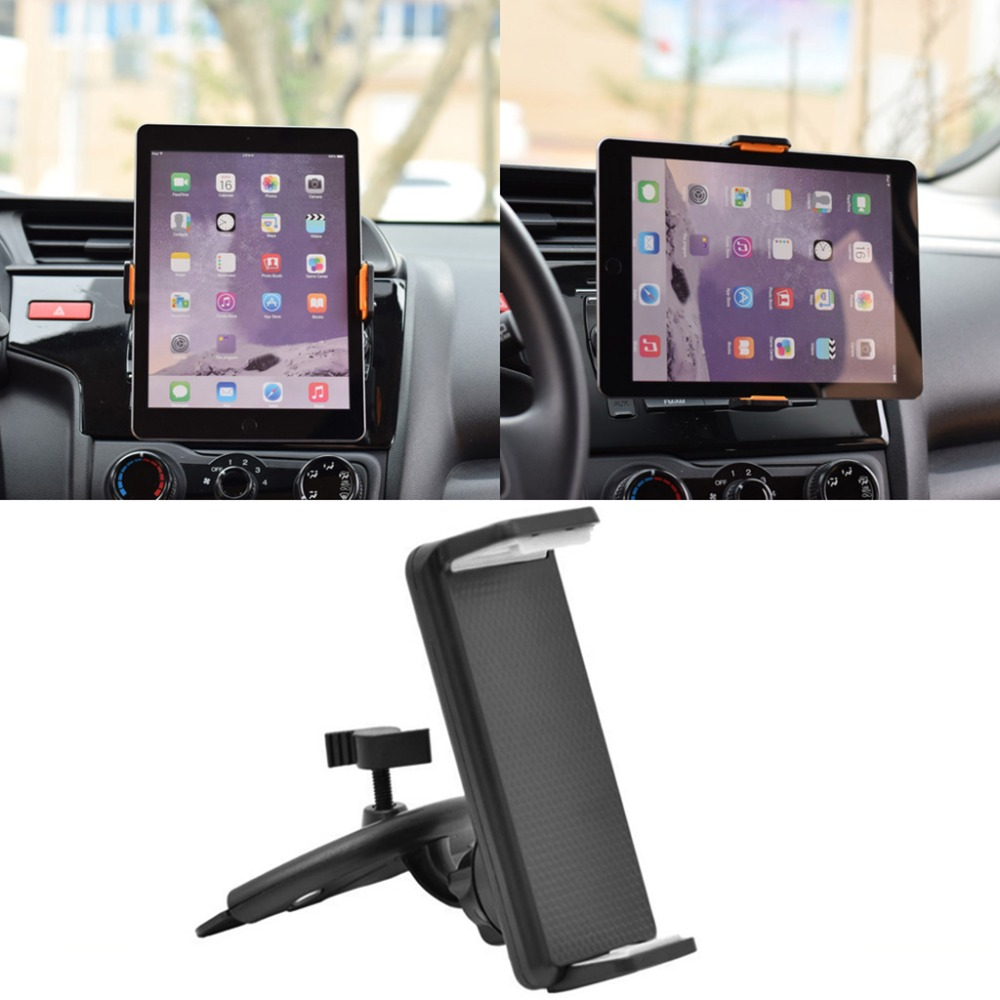 OPEN-SMART 360 Rotation Car CD Slot Mount Holder Stand For 4-11 inch Smart Phone Tablet PC For for iPad 1/2/3/4/6/Mini стоимость