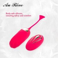 Tím Hồng Không Dây Điều Khiển Từ Xa Vibrator Silicone Bullet Egg USB Massage Sạc Tình Dục Bóng Người Lớn Đồ Chơi cho Phụ Nữ Au Reve