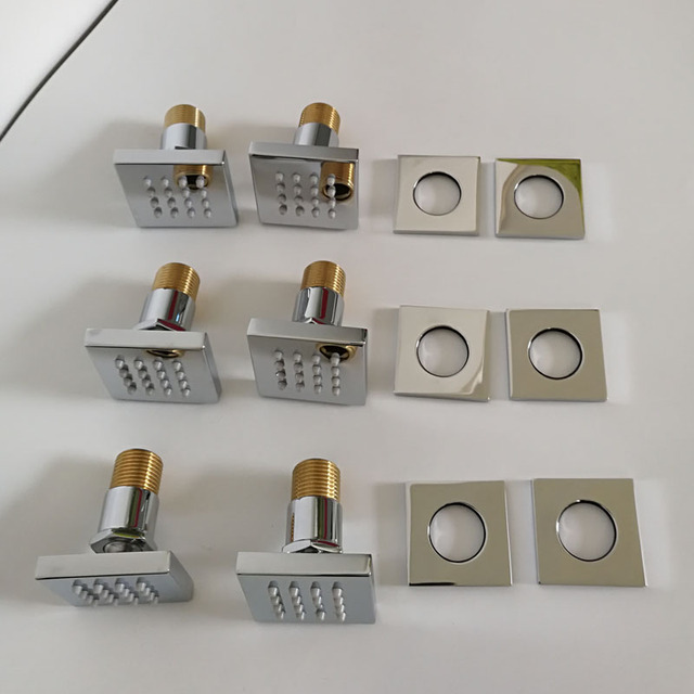 Aliexpress.com : Buy JMKWS Square Shower Body Jets Wall Mounted ...