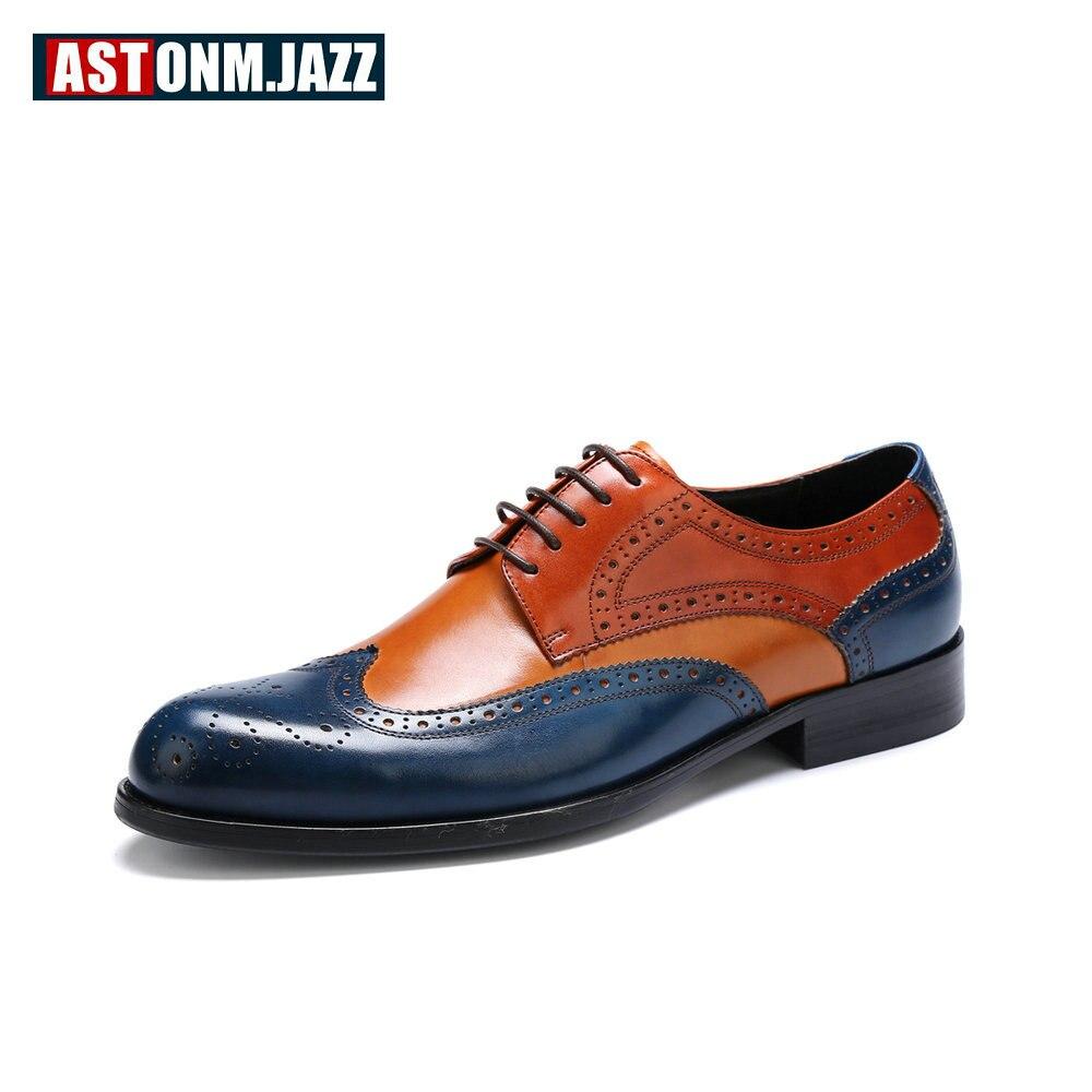 Recommend !! Big Size 11 12 Men Genuine Leather Shoes Lace Up Mixed Color Oxfords Business Man Craved Dress Wedding Shoes морган райс craved