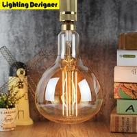 ER180 Big Size Edison Bulb LED E27 Lamp 6W Light Amber Retro Saving Lamp Vintage Filament