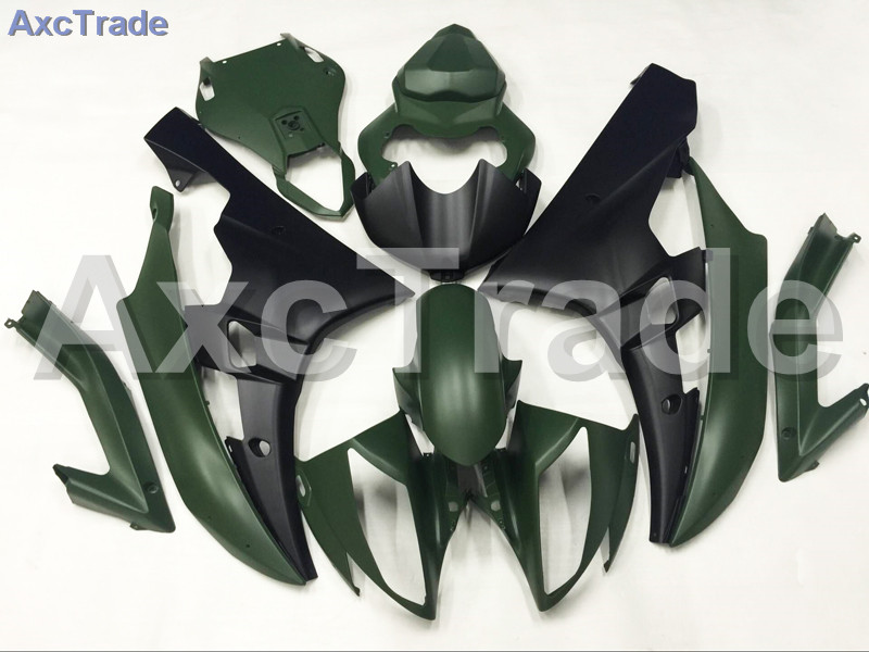 Motorcycle Fairings Kits For Yamaha YZF600 YZF 600 R6 YZF-R6 2006 2007 06 07 ABS Injection Fairing Bodywork Kit Green A880 hot sales yzf600 r6 08 14 set for yamaha r6 fairing kit 2008 2014 red and white bodywork fairings injection molding