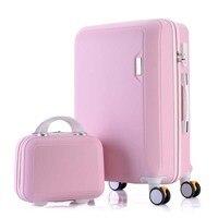 BeaSumore Korean Rolling Luggage Set Spinner Women Suitcase Wheels Travel Bag Trolley 20 inch Men Carry Ons Handle Bag Trunk