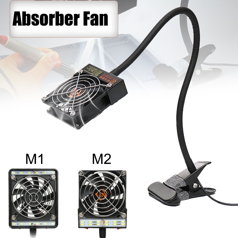 220V LED Exhaust Fan Soldering Iron Air Blower Soldering Station Welding Smoking Device Remover Fume Instrument Blow Repair Tool цена