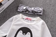 Baby Girl T-shirt+Pant+Headband 3PCS Set