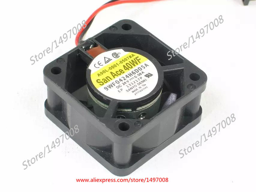 цены на Free Shipping For SANYO 9WF0424H6D05A DC 24V 0.08A, 40x40x20mm 3-wire 3-pin connector 40mm Server Square cooling fan в интернет-магазинах