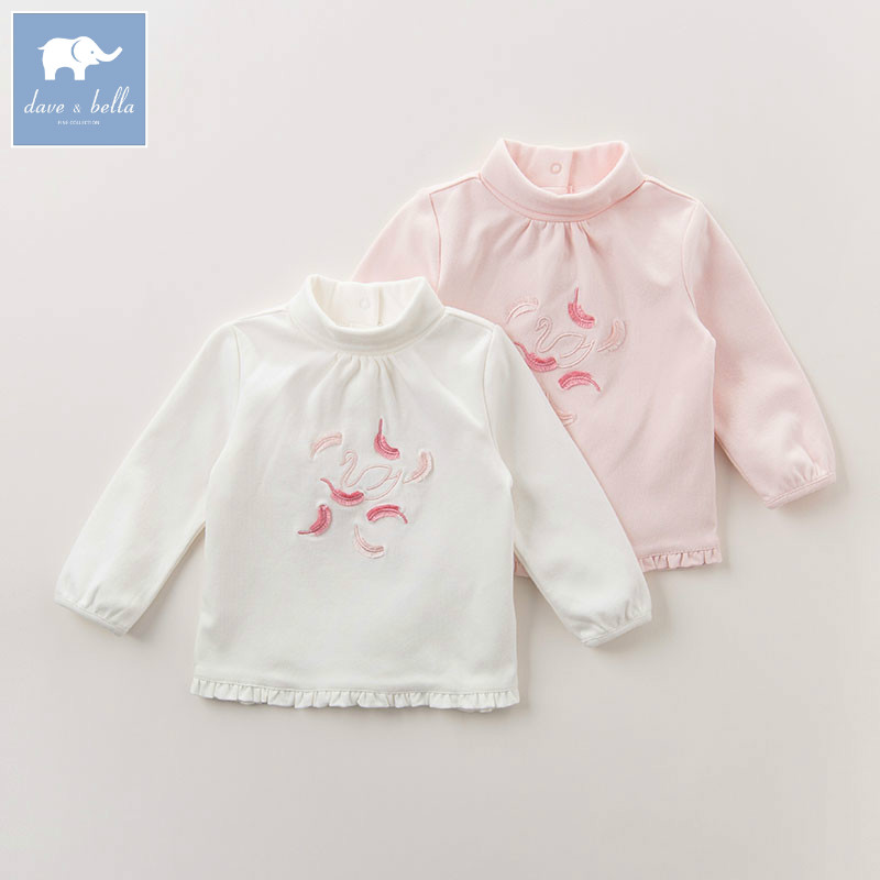 DB6118 dave bella autumn infant baby girls fashion t-shirt kids toddler lovely tops children high quality tee db5884 dave bella autumn infant baby girls fashion t shirt kids 100% cotton lovely tops children high quality tee