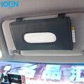 Luxo PU Caixa de Tecido de Couro Do Carro Montado na Pala de Sol Bege de volta Assento de Carro Styling Acessórios Do Carro Sol Do Carro Organizador De Armazenamento viseira