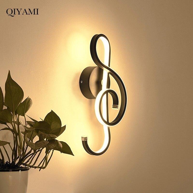 Lampe de mur LED moderne de Note de musique de 15 W pour la chambre à coucher à côté de la lumière de mur de lecture éclairage d'intérieur de chambre d'hôtel de couloir de salon