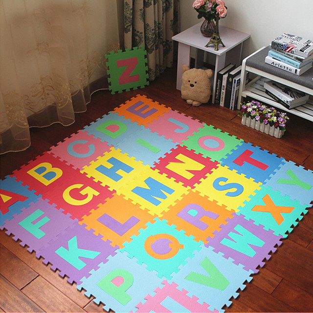 High Quality Eco Friendly Number Alphabet Letters Abc Puzzle Crawling Foam Mat For Kids
