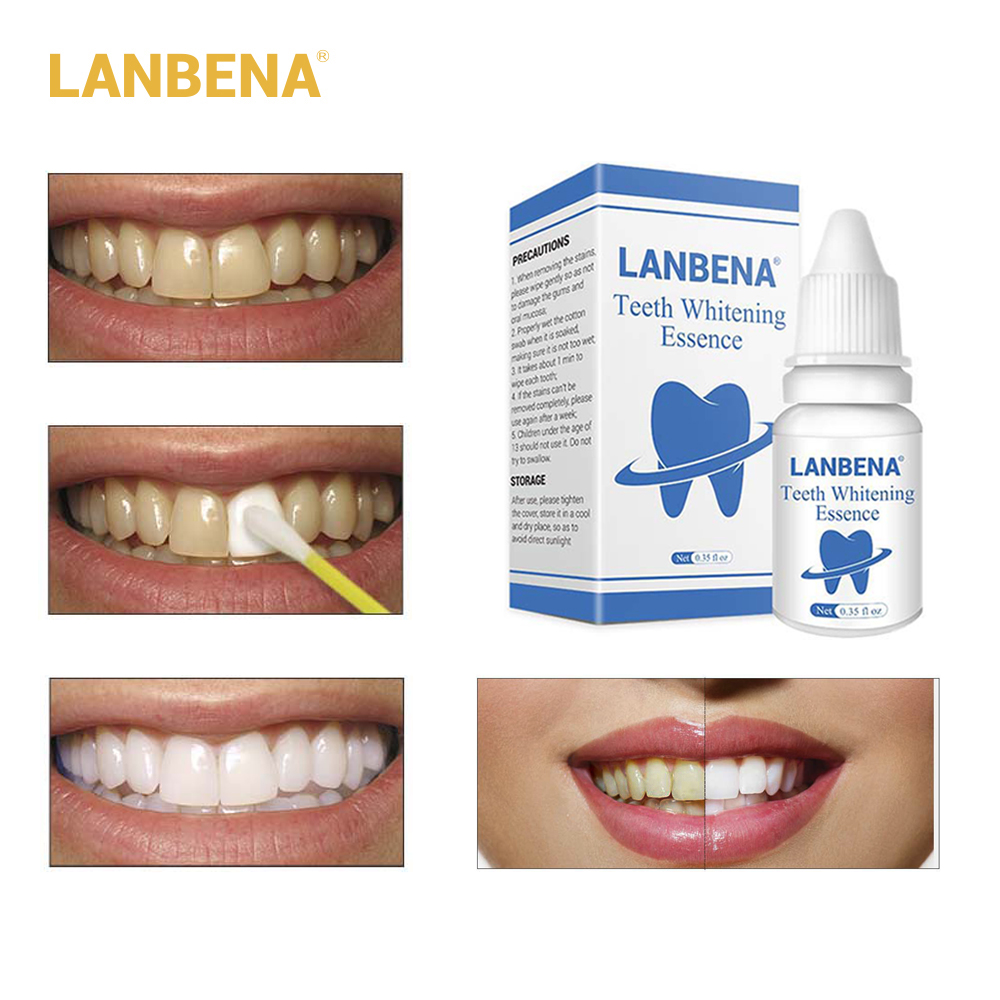 small resolution of lanbena 3d white teeth whitening essence dental whitener oral hygiene white tooth cleaning bleaching serum remove plaque stains