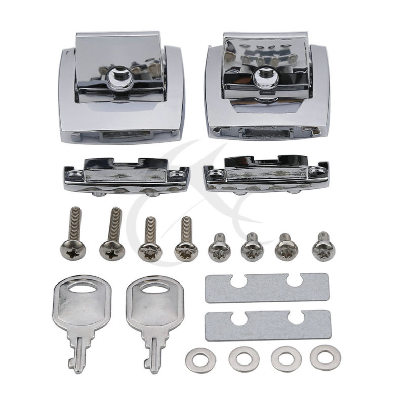Chrome Tour Pack Pak Latch Cover kits For Harley Touring Ultra Electra Glide 88 13 04