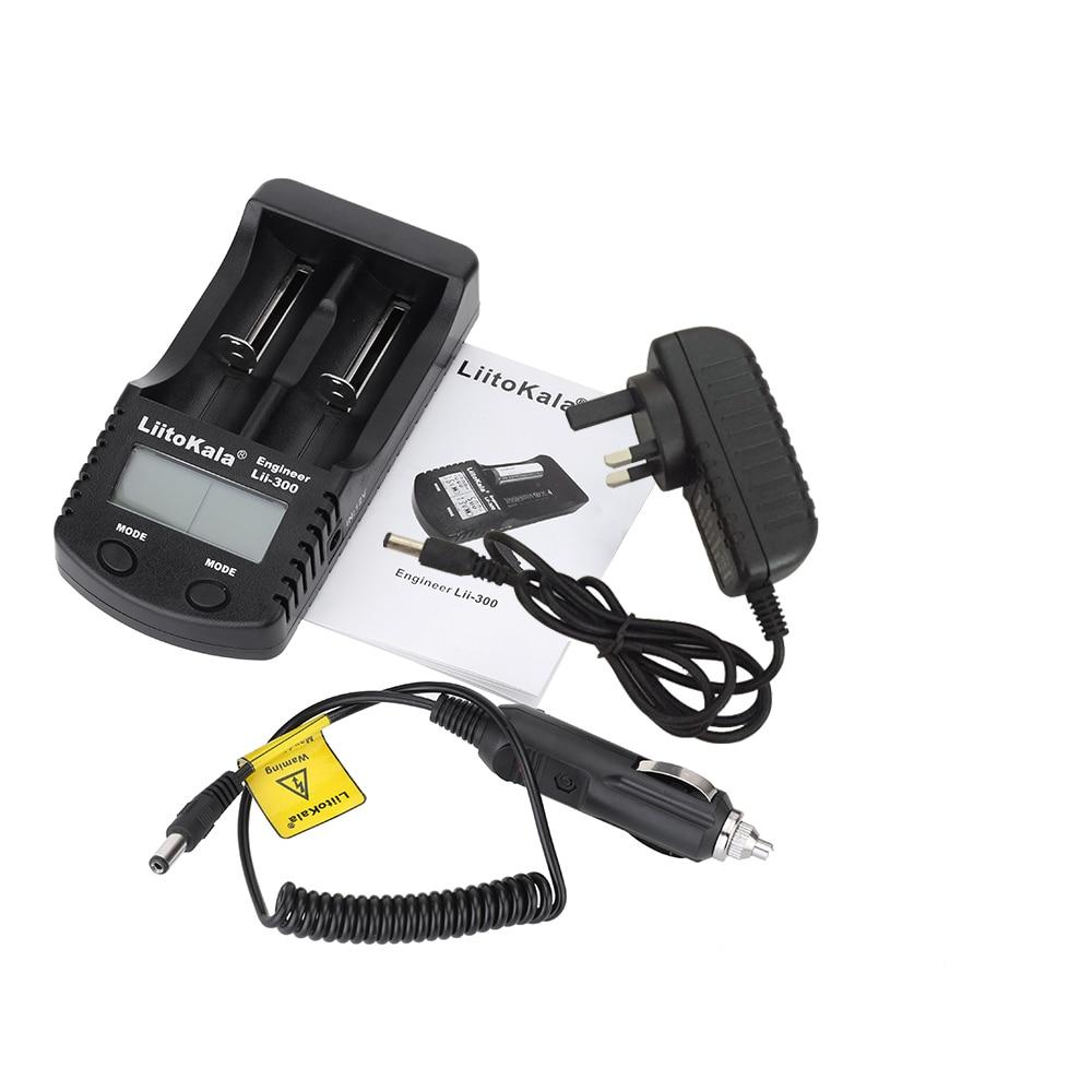 Liitokala LCD 3.7 v 18650 battery Charger Lii-300 1.2 v AA/AAA NiMH/litio Caricabatterie 16340 10440 14500 26650 21700 18350