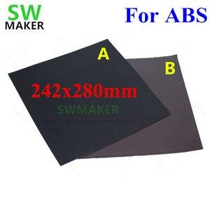 Nuevo para ABS cinta de cama de impresión magnética cuadrado 280x242mm pegatina de impresión placa de construcción Placa de placa flexible placa para flyingbear P905X 3D impresora