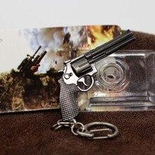 Miniature Revolver Pistol Key Chain Ring