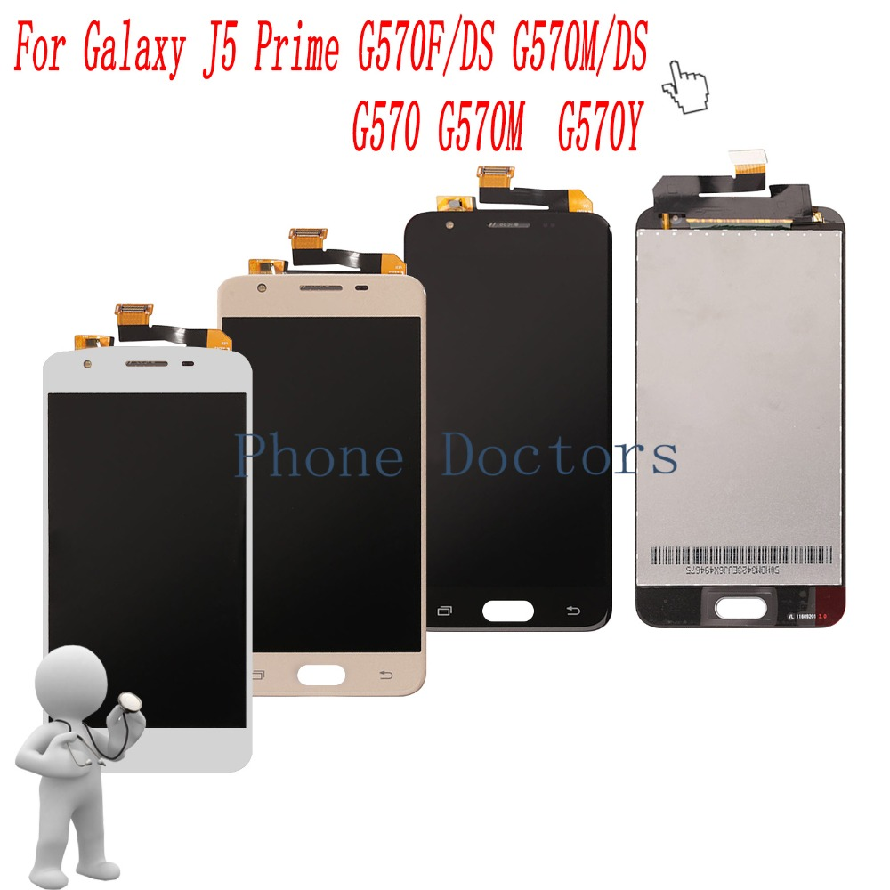 5.0  Touch Screen Digitizer+ LCD Display Assembly For Samsung Galaxy J5 Prime G570 G570M G570Y G570F/DS G570M/DS Free shipping