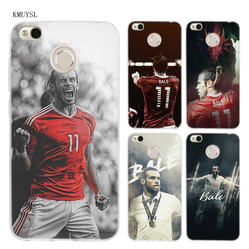 KMUYSL Gareth Bale GB11 TPU Transparent Soft Case Cover for Xiaomi Redmi Note 4X 4 4A 5 Mi A1 Plus