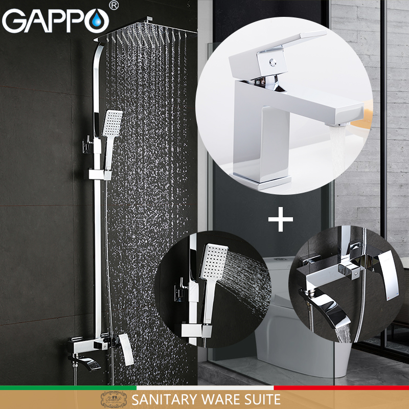 GAPPO basin mixer tap bathroom faucet brass water sink mixer deck mounted mixer tap faucet Sanitary Ware Suite