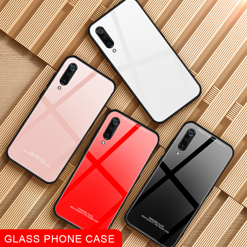 Tempered Glass Phone Case For <font><b>Xiaomi</b></font> <font><b>Mi</b></font> 8 Lite Mi6 <font><b>Mi</b></font> A1 A2 Lite 5X 6X Mix2S <font><b>Max3</b></font> Pocophone F1 Back Shell For Redmi 6 <font><b>Pro</b></font> Cover image