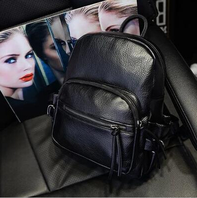 2015 summer new college wind schoolbag washed leather backpack woman Korean tidal fashion leisure travel bag