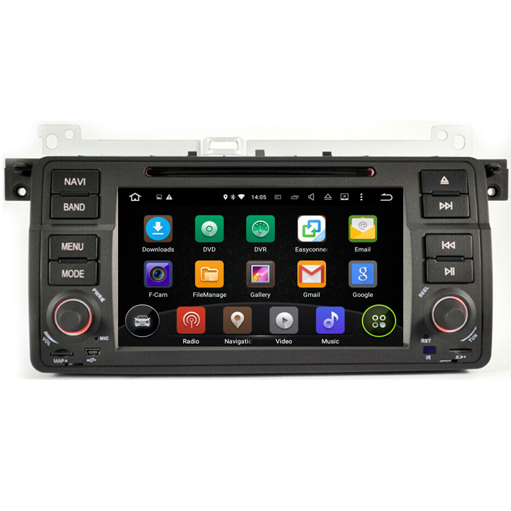 android 7 1 os gps navigation system for bmw e46 m3 316i. Black Bedroom Furniture Sets. Home Design Ideas