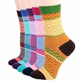 RioRiva 5pairs/Pack US 5-9/EU 35-40 Originals National Design Style Women Short Socks Colorful Women's Socks Cotton Sox